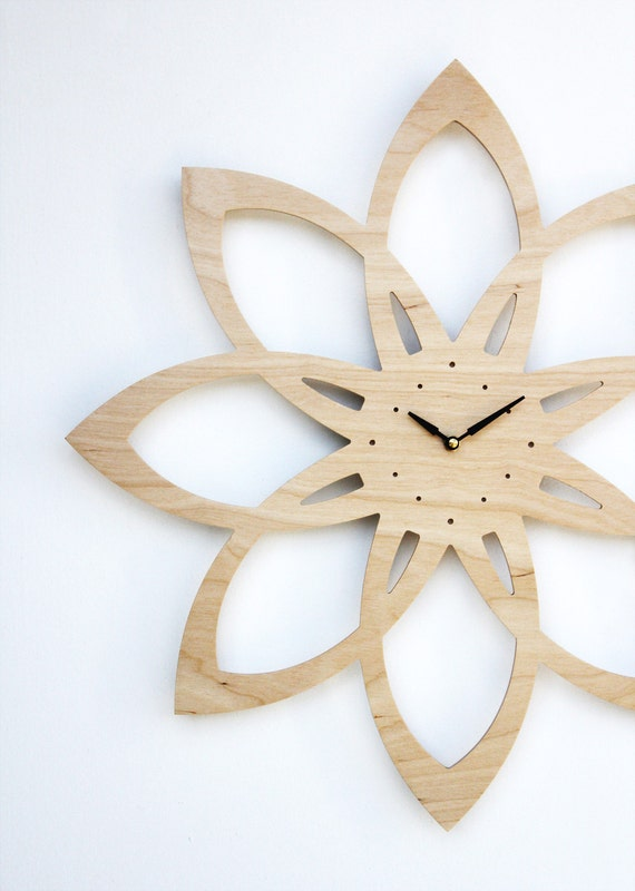 mid century modern inspired sunburst clock
