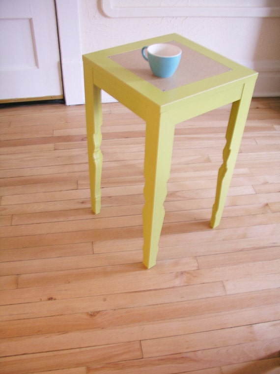 chartreuse vintage style tea table