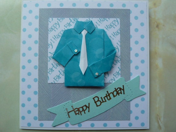 Handmade Birthday Cards For Guys 18 ~ Man boys guys handmade birthday card with by janesgemsandjewels