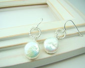 Baby Coin Pearl Earrings... freshwater pearls with sterling silver