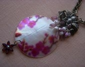 BEE Honey Dripper Hand Made Necklace ECO FRIENDLY Salvaged Dogwood Shell