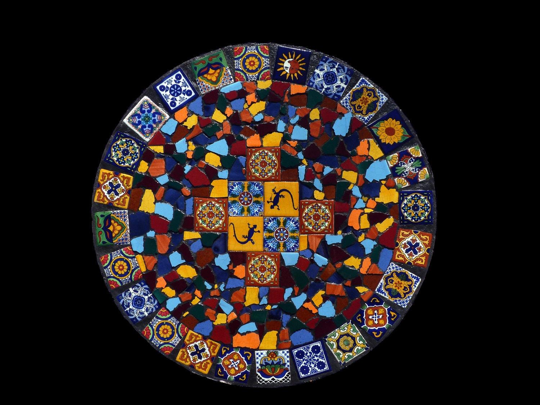 Talavera Tile Mosaic Lazy Susan