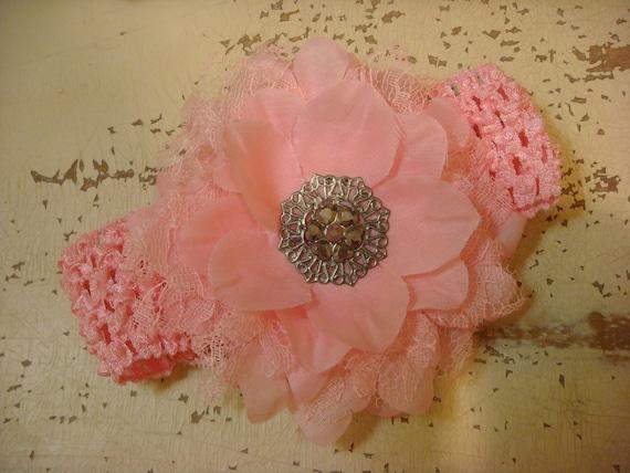 Pink Hair Clip and Headband