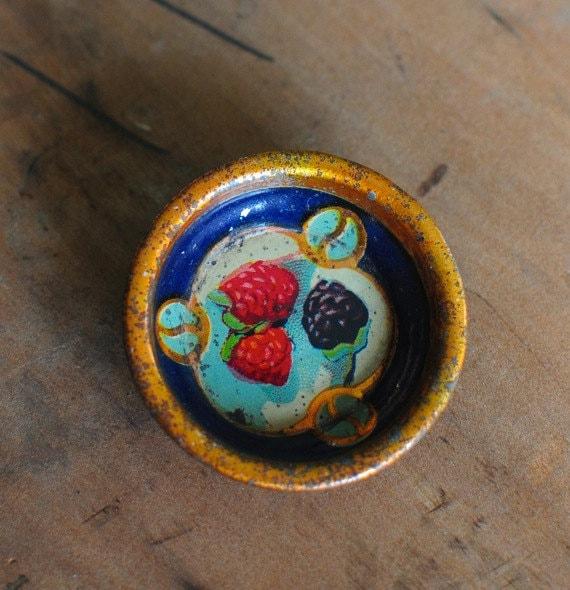 Miniature Tin Dish with berries