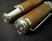 On Sale - Curly Koa Wood Majestic Fountain Pen - Handcrafted Gentleman's Pen