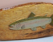 Hand Carved Rainbow trout Wall Hanging