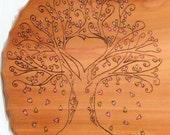 Wedding Guest Book Large Wood Wedding Heart Tree Wood