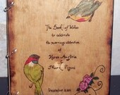 Wood Wedding Guest Book Wood Shabby Chic Birds