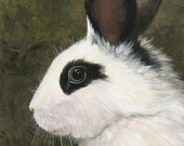 Little Rabbit 1 - Canvas Giclee of Original Oil Painting
