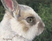 Baby Rabbit - Canvas Giclee of Original Oil Painting - 9x12 Stretched Canvas