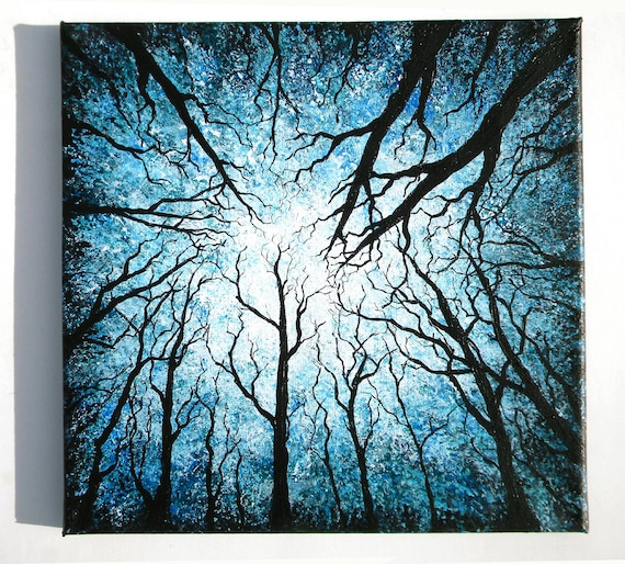 Blue Forest From Below 12X12