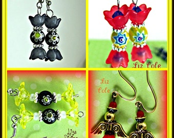 Fun Candy In A Wrapper Earrings or Angel Earring's  You Pick One Was 10.00 Now Only 5.00