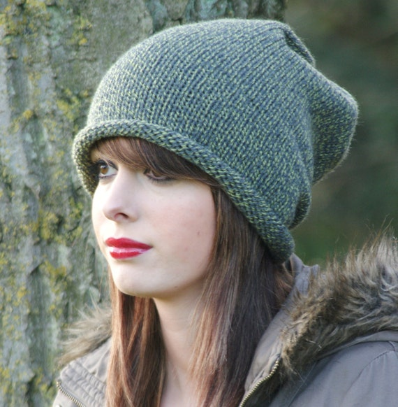Knitted Slouchy Dread Tam beanie Hat Unisex