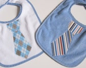 BIB SALE Baby Tie Bib - Set of 2 Blue