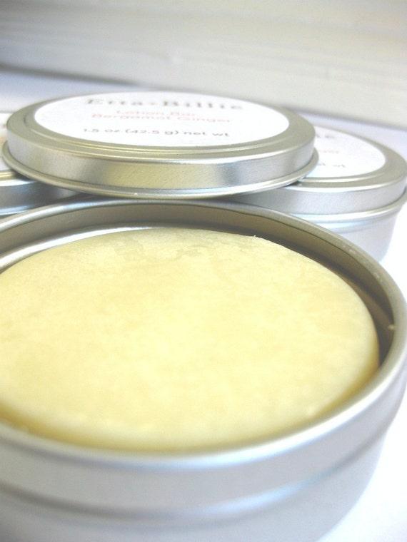 Bergamot Ginger Lotion Bar Certified Organic Ingredients