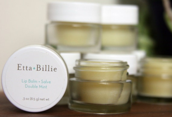 Double Mint Lip Balm and Salve Certified Organic Ingredients