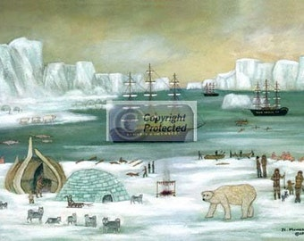 ARCTIC WHALERS - Limited Edition Print _ by J.L. Munro
