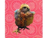 Chicken Poncho Card and Magnet Gift Set