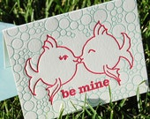 Fish Kiss Folded Letterpress Card
