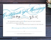 "Banner Classic Custom Marriage Certificate - 13"" x 10"""