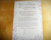 Fairytale Inspired Custom Jewish Wedding Ketubah