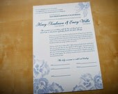 Romantic Floral Made to Order Ketubah