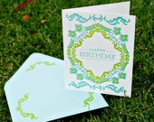 Happy Birthday Dutch Folded Letterpress Greeting Card
