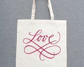 Scripted Love Custom Lightweight Tote Bags (Set of 5)