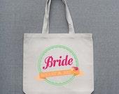 Custom Bride Large Tote Bag