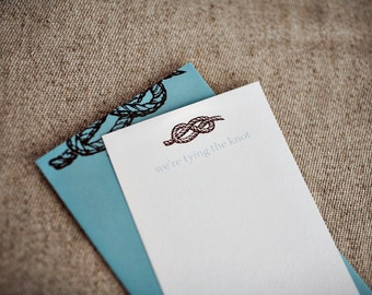 SALE - Tying the Knot Invitations (Set of 10)