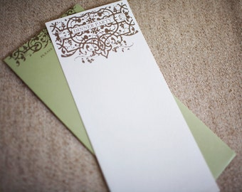 SALE - Patterned Dinner Party Invites (Set of 10)