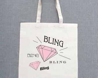 Bling Bling Custom Tote Bags (Set of 5)