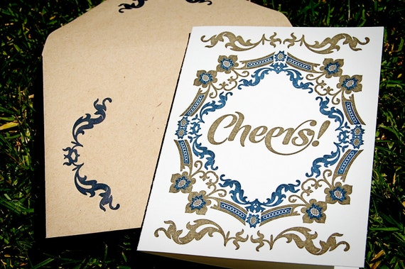 Cheers Dutch Inspired Letterpress Card