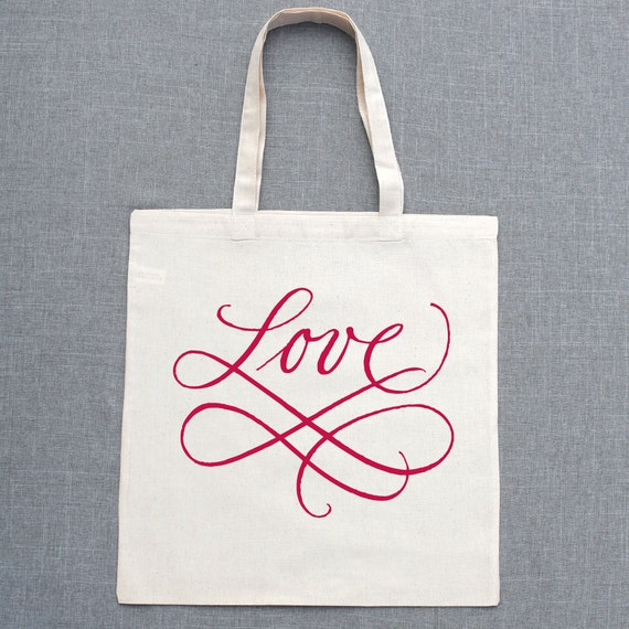 Scripted Love Custom Lightweight Tote Bags (Set of 5)