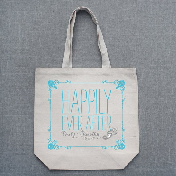 Custom Tote Bag - Decorative Frame Happily Ever After