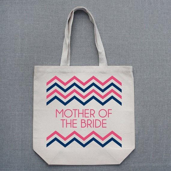 Chevron Custom Large Tote Bag