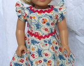 1930s Style Garden Party Dress Fits American Girl Dolls Kit Ruthie