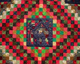 Christmas Around the World Quilt  FREE SHIPPING