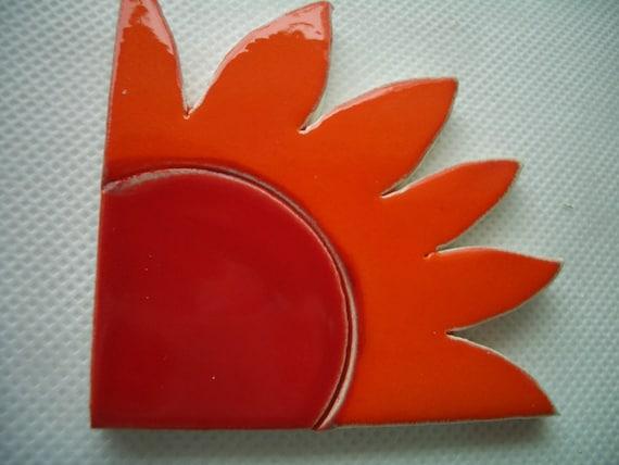 WILD Corner Flower or Sun - Ceramic Mosaic Tile