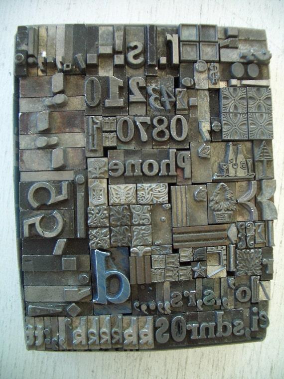 GR4 - GRAPHICS Letterpress Lot - Super COOL