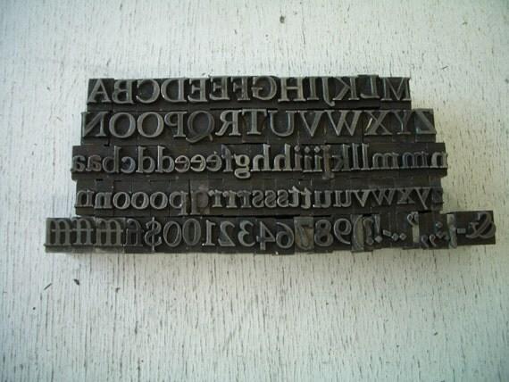 M1 - GIGANTIC Pretty Alphabet - Almost ALL Inclusive Letterpress Lot