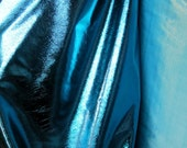 Super shiny 60 inch Aqua Blue Lame fabric dance costumes party decor