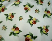 Last 2 yards Beautiful RJR In Love With Nature Cotton Fabric Print 44 inches wide White with plums
