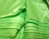 5 or 10 yards Apple GREEN Satin 58 inches wide Polyester Great for Costumes linings Crafts Dresses