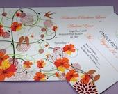 Swirl and Flowers Wedding Invitation (Sample Set)