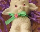 Kids soap - White Chocolate Alyssa Had a Little Lamb Spring Soap