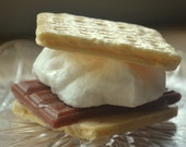 Toasty S'More Soap - Smores - Graham Cracker - Camping - Novelty Soap - Marshmallow Soap - Chocolate - Dessert - Fun Soap - Kids Soap