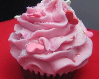 Cupcake Soap - Cascades of Love Cupcake Soap - Valentines Day Soap - Valentine - Love - Cupcake - Heart Cupcake