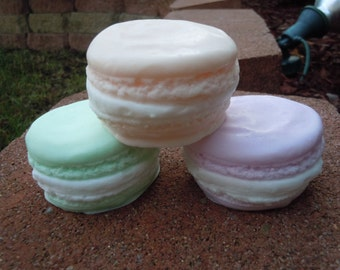 Macaron Soap Gift Set of 4 - Valentine's Day Soap - Party Favor - Holiday Gift - Spa Gift - Mother's Day - Anniversary - Vegan Soap