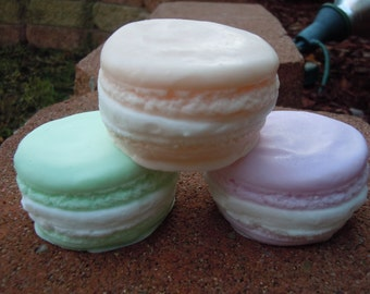 French Macaron Soap - Party Favors Complete Set of 10 - Bakery Soap - Shower Favors - Food Soap - Macaron - Macaroon